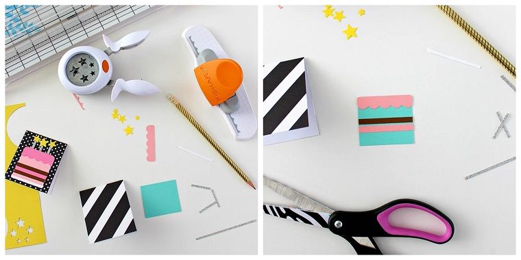 biglietti auguri compleanno fai da te tutorial cartolina con cartoncini colorati
