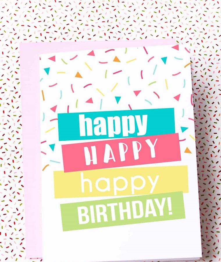 biglietti di compleanno fai da te per maschi cartolina pieghevole con scritta