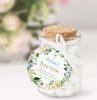 bomboniere originali battesimo bottiglietta di vetro con etichetta personalizzata