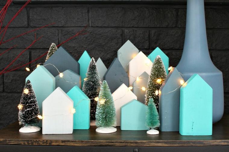 come addobbare la casa per natale 2020 case di legno dipinte con fili lucine