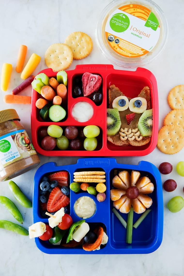 lunch boc per bambini cosa preparare per pranzo scatola con scomparti per alimenti
