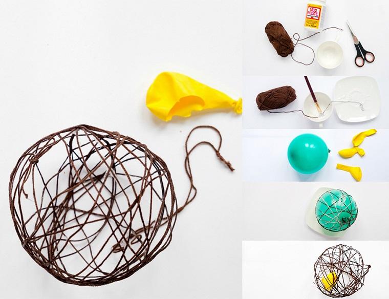 palline di natale fai da te 2020 tutorial pallina di spago con palloncino e colla vinilica