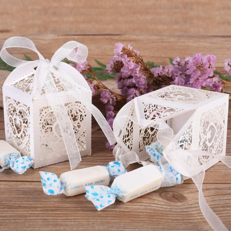 scatola portaconfetti di carta idea regalo battesimo bimbo maschio