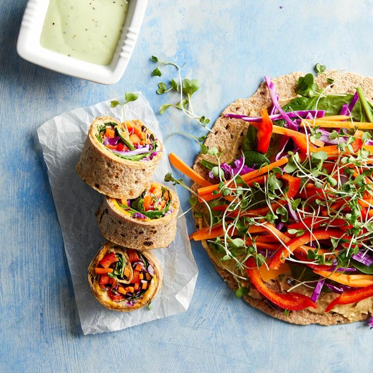 tortillas con verdure tagliate a julienne idee per pranzo veloce al sacco