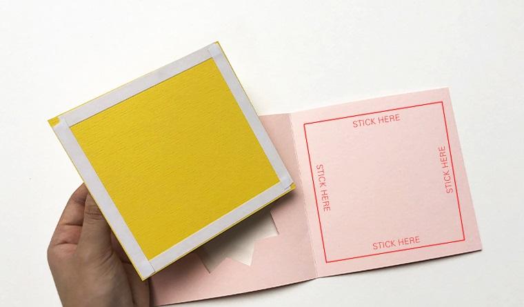 tutorial con cartoncini colorati da incollare biglietti di copleanno fai da te originali