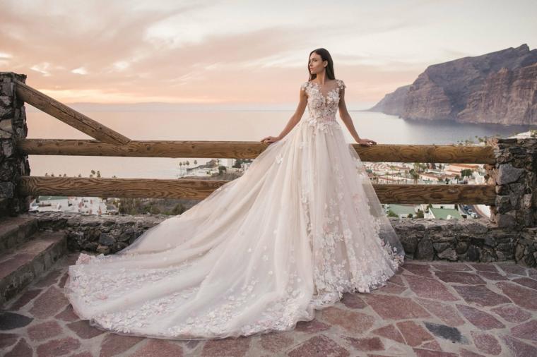 vestiti da sposa bellissimi abito con gonna lunga in tulle vestito da matrimonio con paillettes