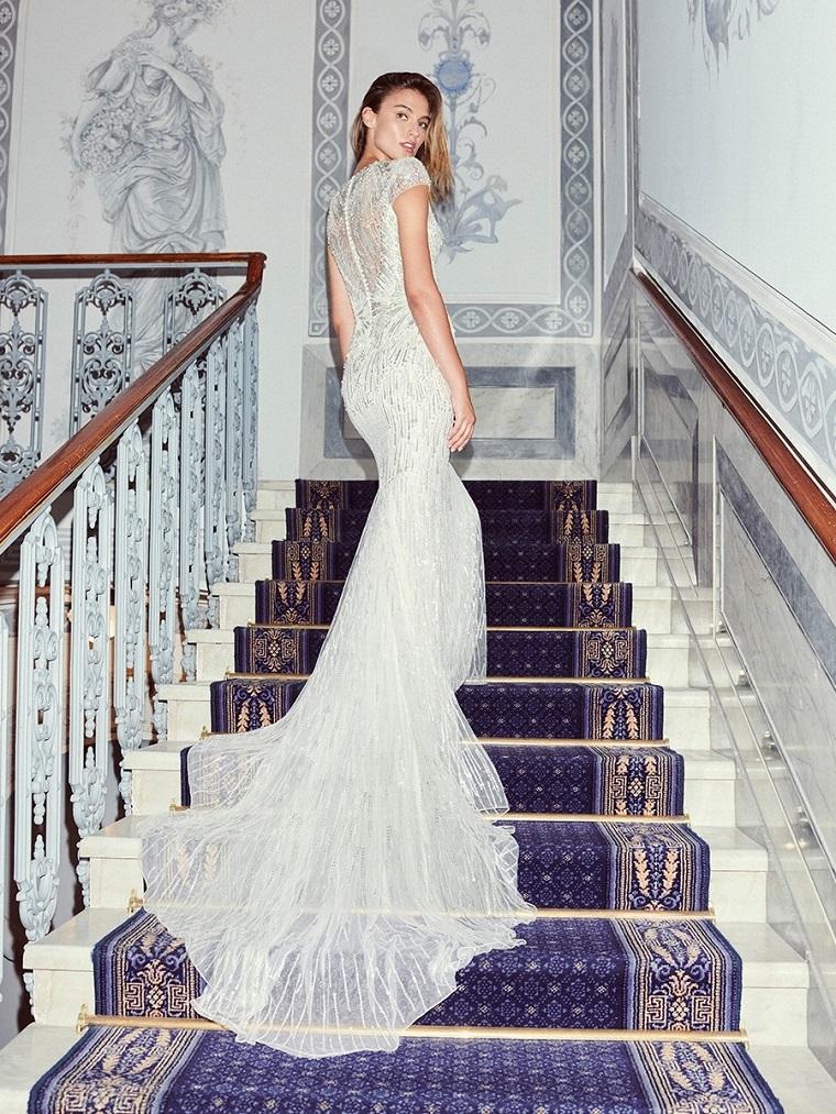 vestito da sposa by jenny packham abito a sirena con schiena scoperta