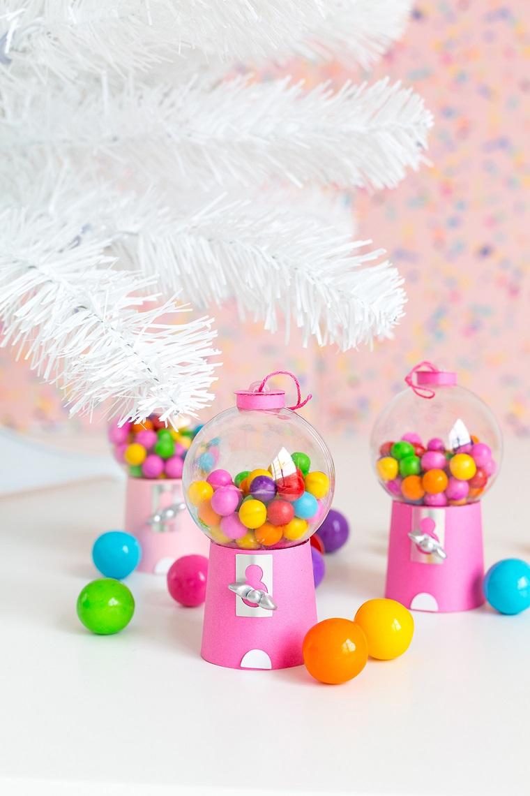 alberi di natale fai da te originali ornamenti fatti a mano distributore di caramelle