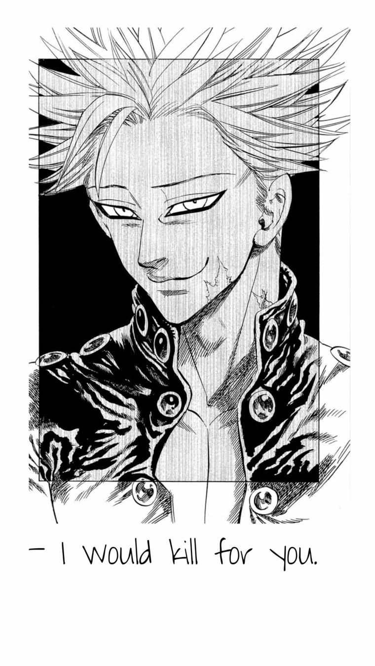 anime background telefono cellulare disegno ragazzo scritta i would kill for you