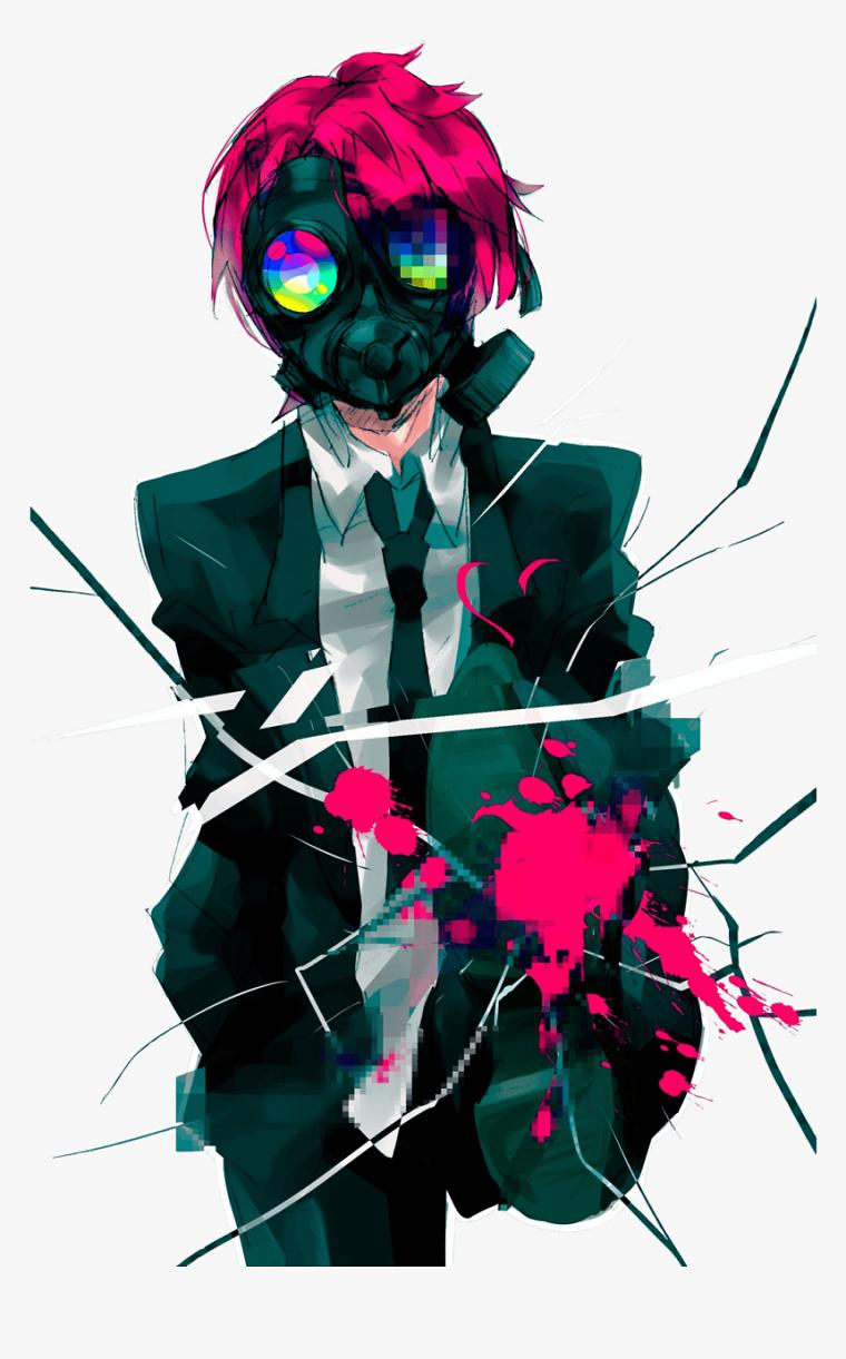 anime ragazzo wallpaper personaggio carone animato con maschera sul viso