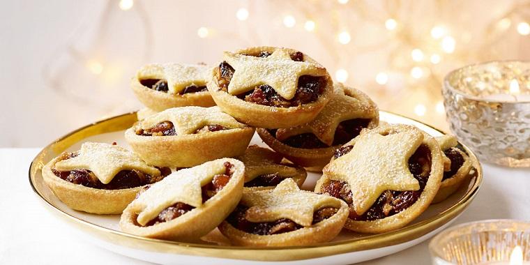 apple mince pies biscotti dolci natalizi americani decorati con marmellata stella