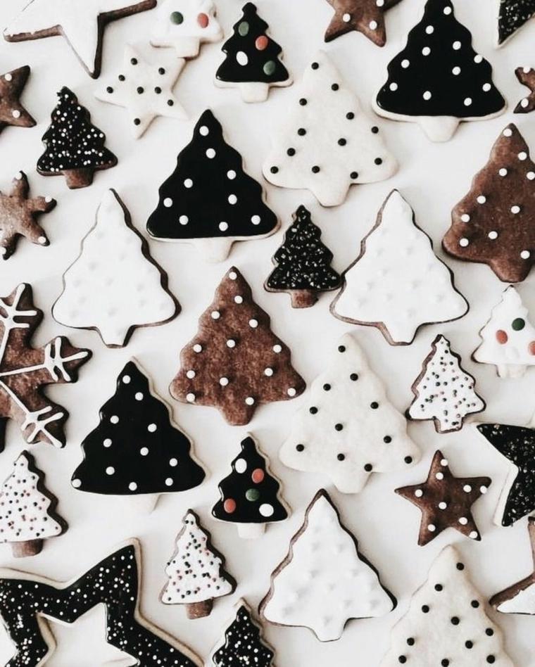 biscotti natalizi forma albero di natale regali natale amiche
