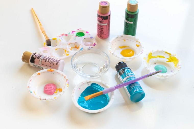 ciotoline con colori acrilici pensierini di natale fai da te come decorare un regalo