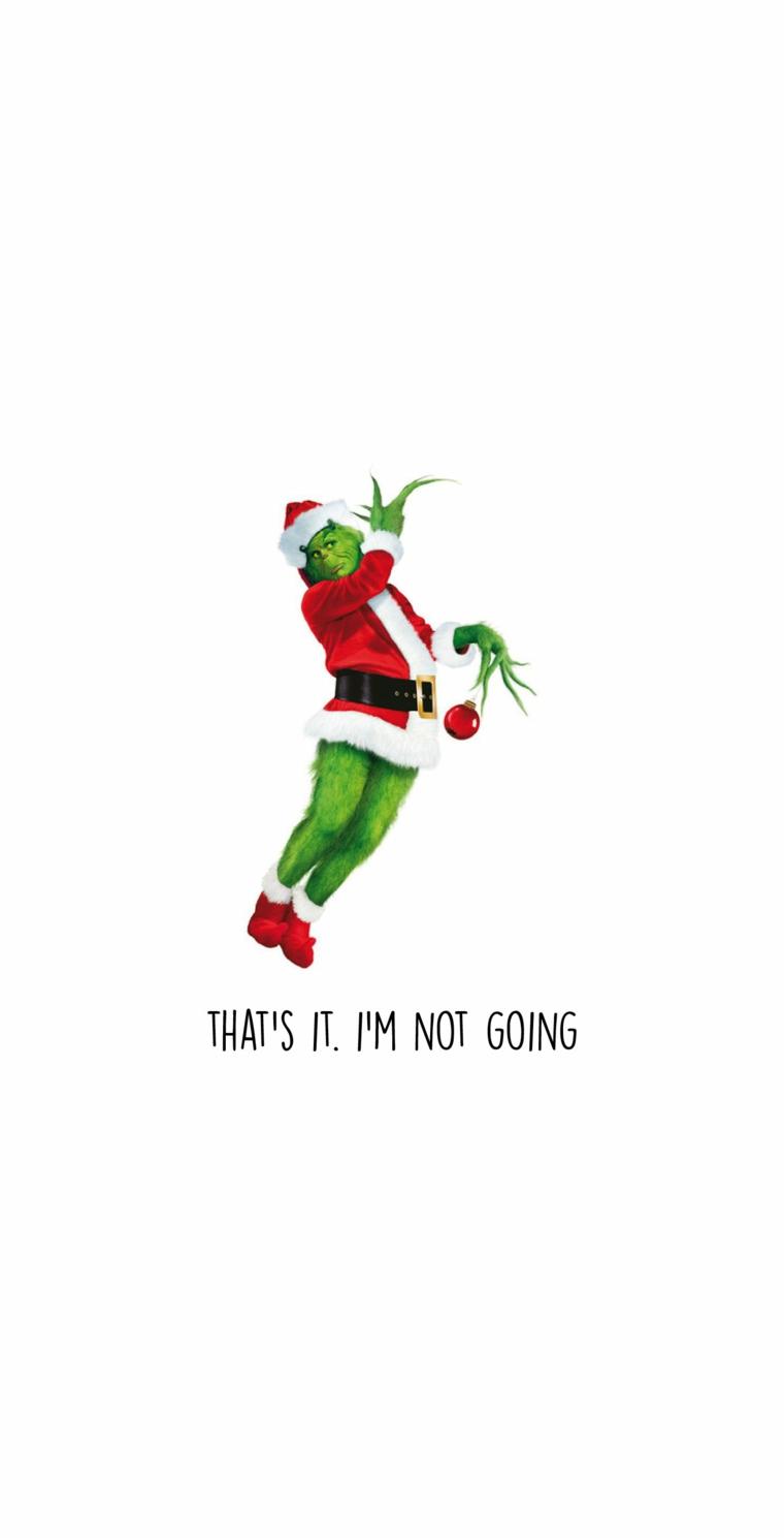 disegno grinch su sfondo bianco sfondi immagini natalizie