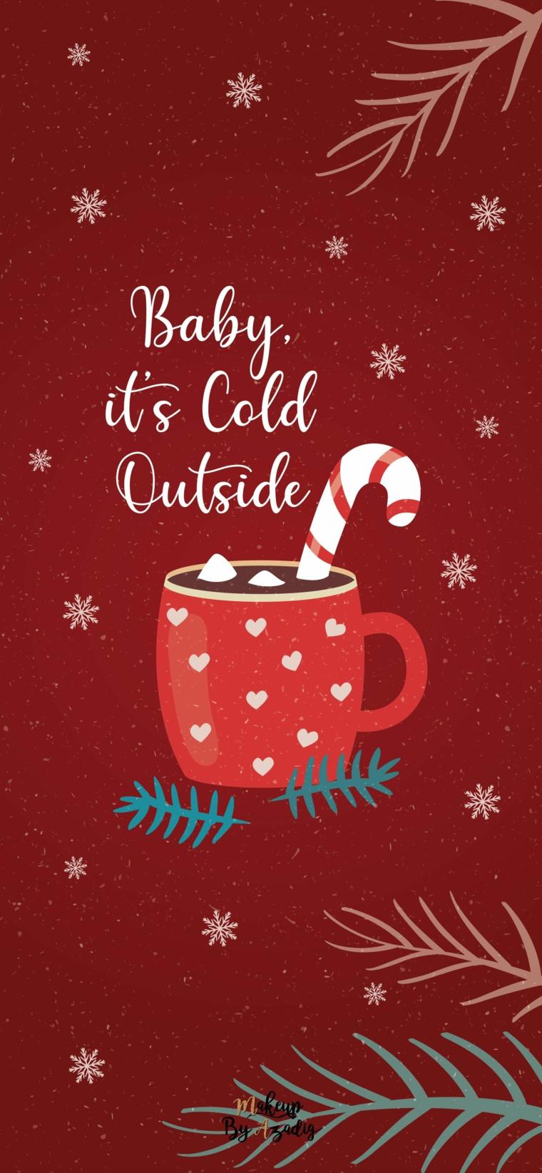 disegno kawaii di una tazza di cioccolato immagini natalizie da scaricare