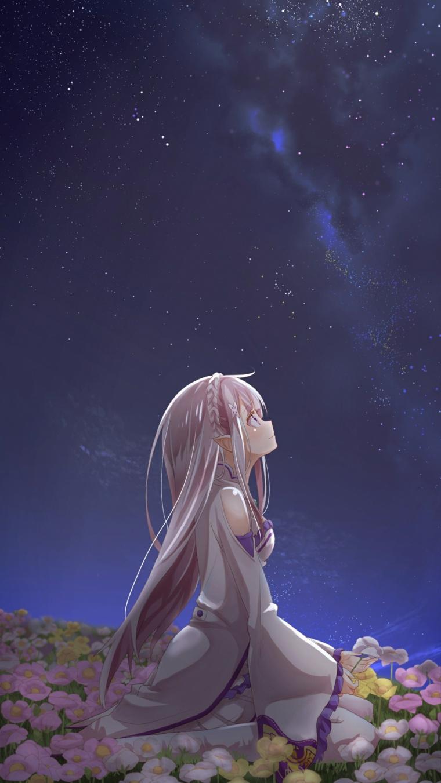 immagine romantica per sfondo telefono ragazza anime cartone giapponese
