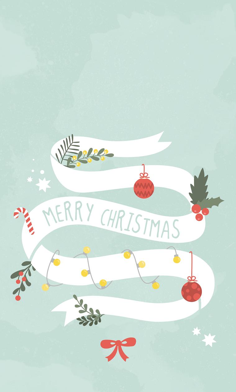 immagini natalizie da scaricare gratis disegno ghirlanda con scritta e decorazioni di natale