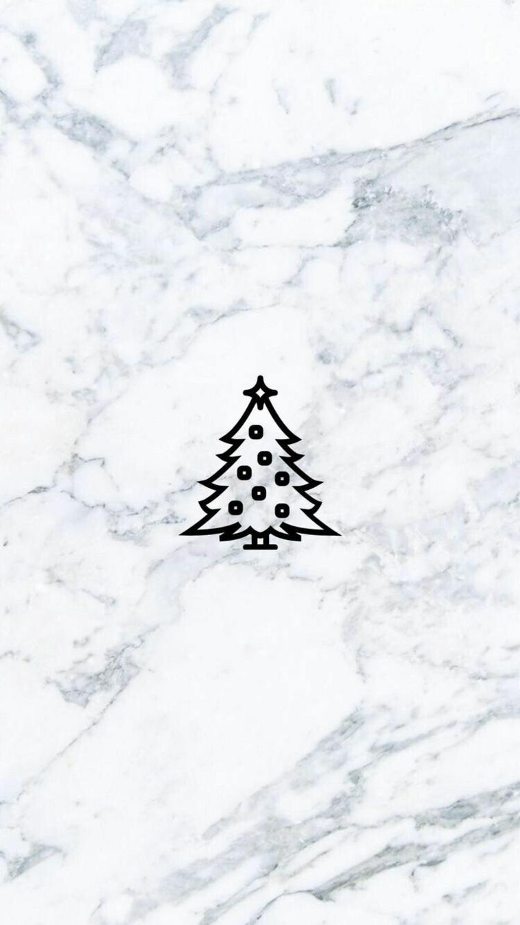 immagini natalizie per profilo whatsapp sfondo effetto marmo con disegno albero di natale