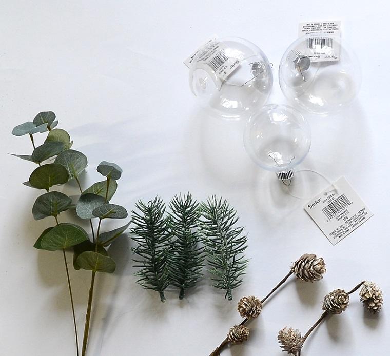 materiale per decorazioni natalizie regali di natale economici rametti e mini pigne