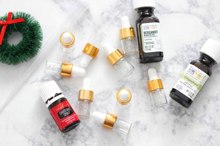 materiale per regali fai da te per migliore amiche bottigliette di olio essenziale