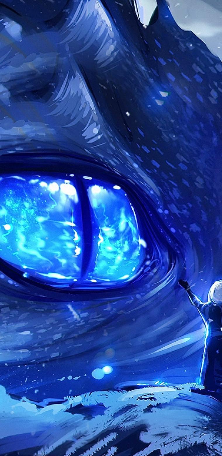 occhio blu drago immagini anime sfondo da scaricare per il telefono