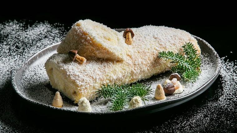 ricetta facile per tronchetto di natale rotolo di pan di spagna con crema bianca