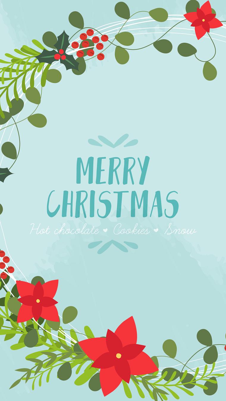 scritta in inglese merry christmas disegno stella di natale sfondi natalizi gratis per cellulari