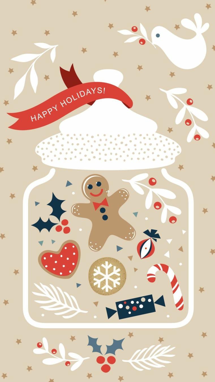 sfondi immagini natalizie disegno kawaii di un barattolo con biscotti