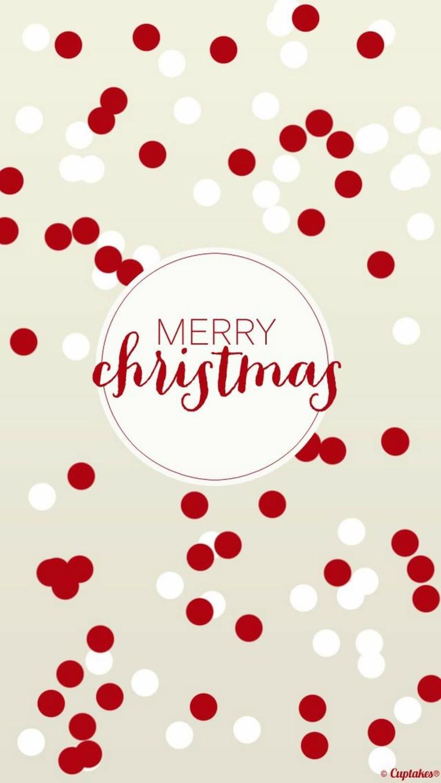 sfondi natalizi gratis per cellulare scritta in inglese sfondo immagine pois rosso bianco