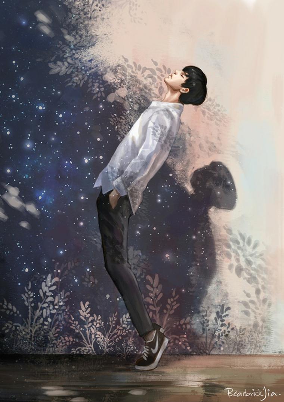 sfondi per cellulare ispirati artoni animati giapponesi ragazzo che guarda il cielo