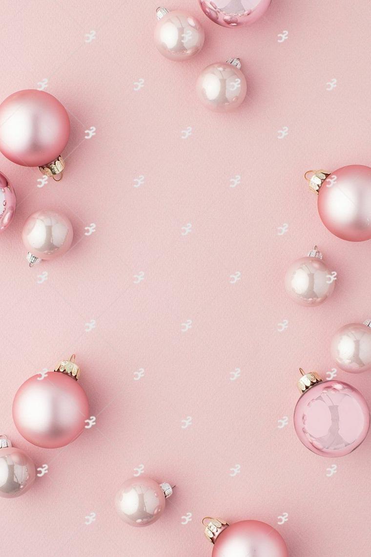 sfondo rosa con palline natalizie sfondi natalizi gratis per cellulare