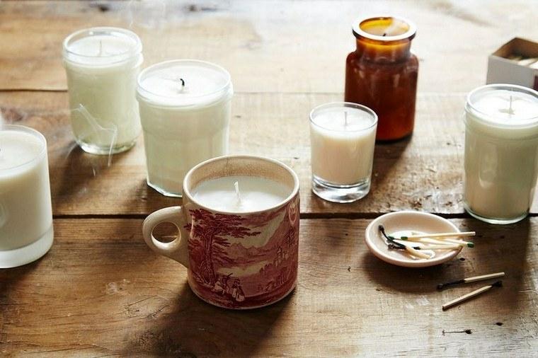 bicchieri di vetro e tazze utilizzate con portacandele come fare una candela