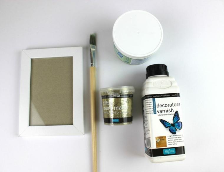 candele addobbate per natale portacandele con cornice per fotografie pennello e vernice acrilica