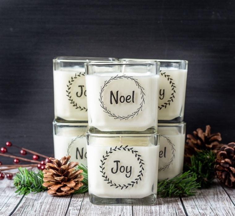 candele fai da te portacandele di vetro con etichetta personalizzata con scritta