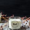 candele natalizie fai da te portacandele di vetro con etichetta personalizzata