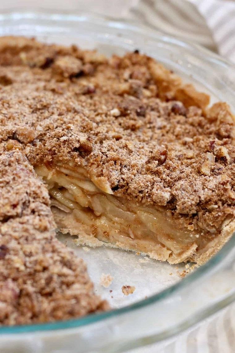 crumble pie alla mela come fare la torta di mele in teglia rotonda