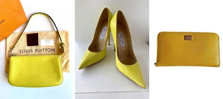 pantone giallo 2021 colore dell anno accessori moda scarpe tacchi borsetta a mano