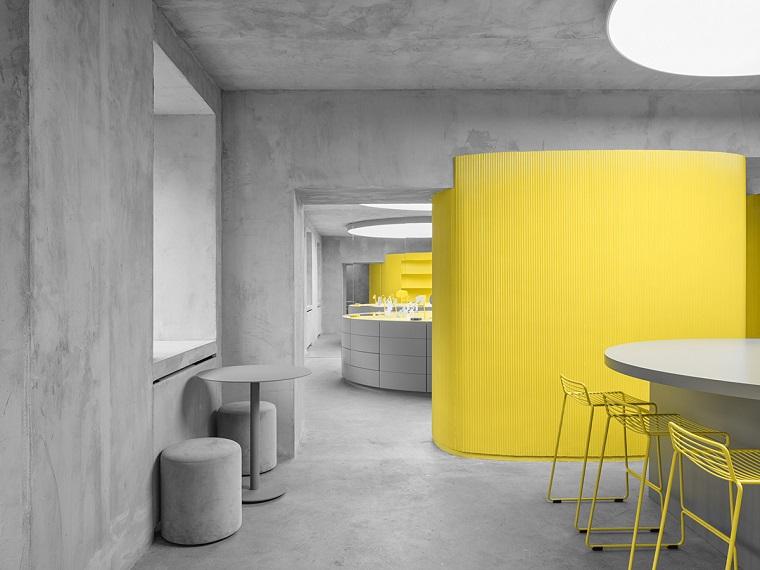 pantone grigio giallo colori dell anno open space sala da pranzo e cucina