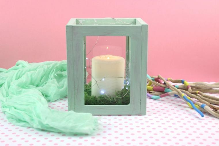 portacandela con cornici di legno dipinte idee candele natalizie fai da te