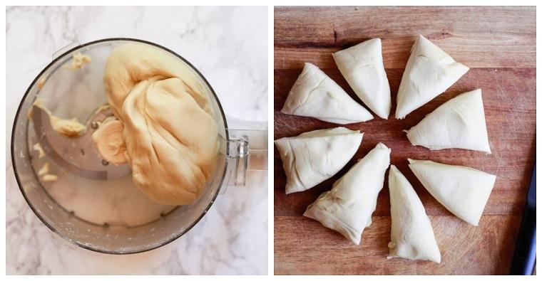 ricetta piadina con olio mixer da cucina con impasto per pizza tagliare a triangoli
