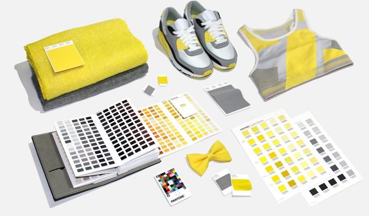 tabella colori pantone nuance dell anno grigio e giallo libro con mazzetta