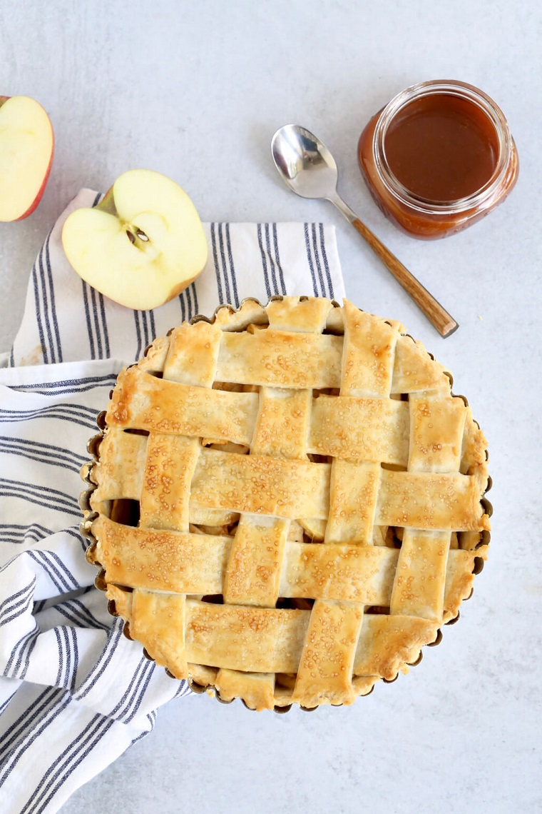torta di mele senza burro ricetta con pasta brisee miele crostata