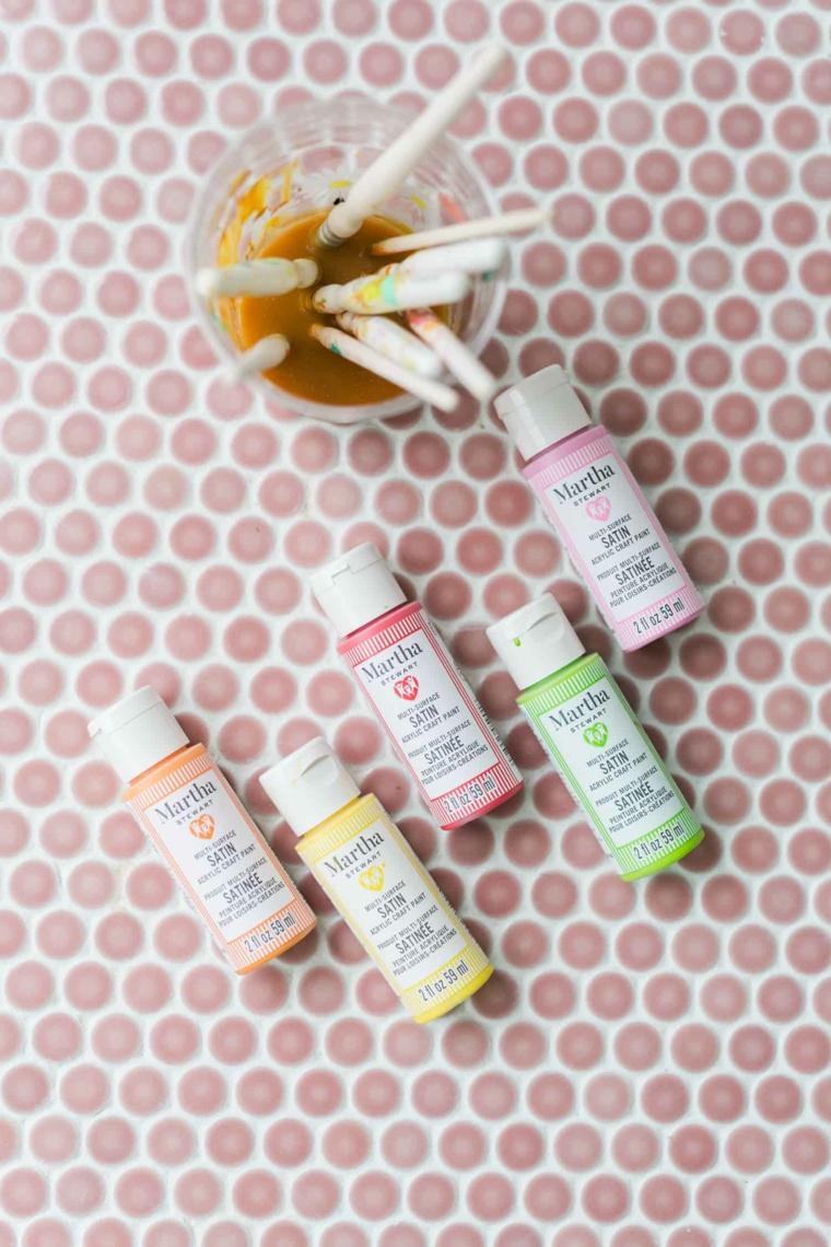 bottigliette di colore per tessuti lavoretti facili per bambini di 4 anni
