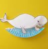 colorare con blu disegno ritaglio beluga lavoretti facili per bambini di 4 anni