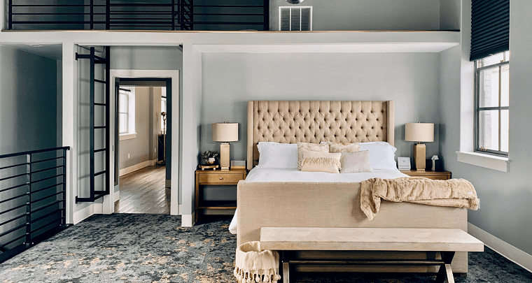 colori pareti camera da letto 2021 pittura tonalità chiara mobili beige