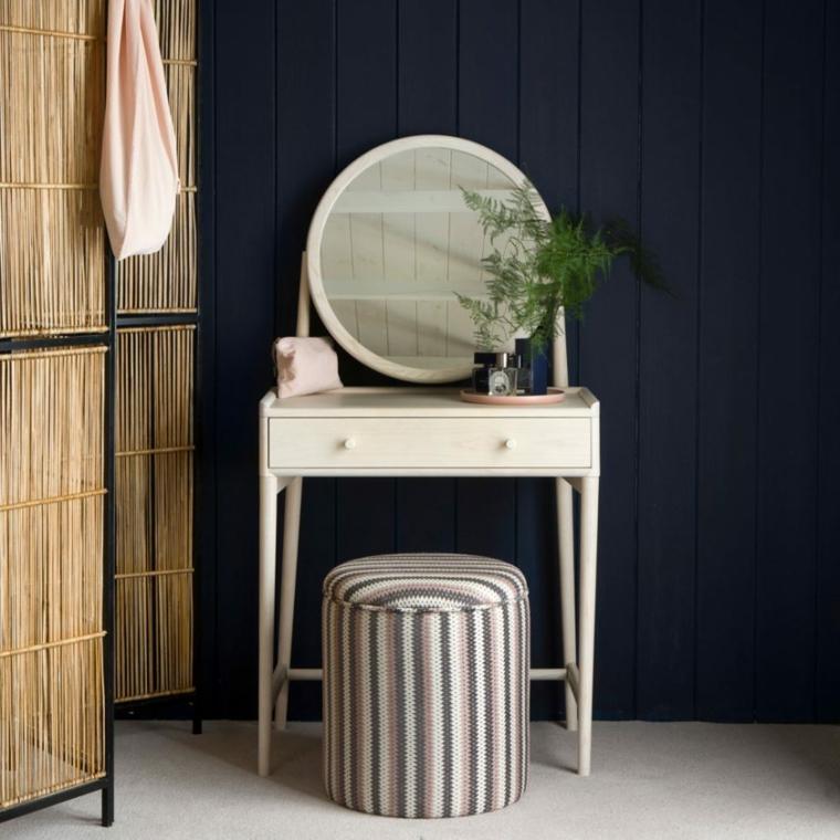 colori rilassanti per camera da letto tonalità pittura blu scuro abbinamento mobili chiari