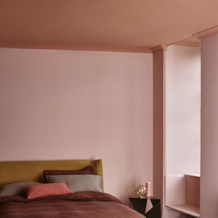 colori rilassanti per camera da letto tonalità terracotta rosa sfumato