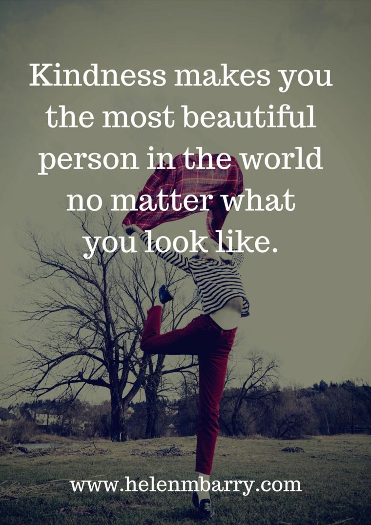 frasi per tirarsi su il morale citazione sulla gentilezza immagine con sfondo ragazza