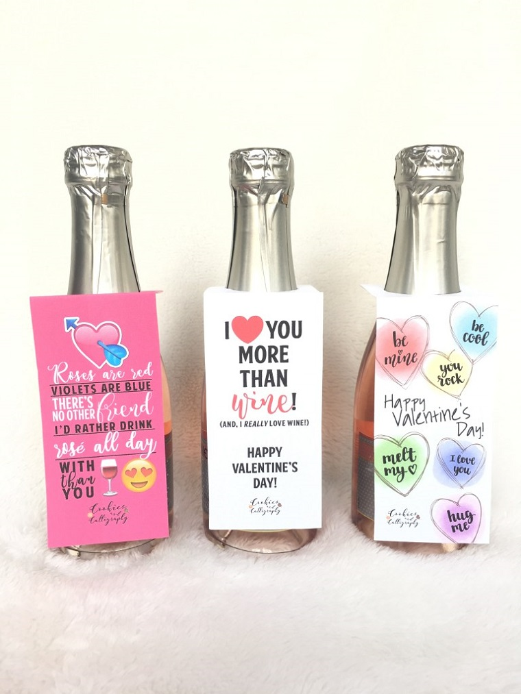 mini bottiglie di vino con etichetta personalizzata regali san valentino per lui