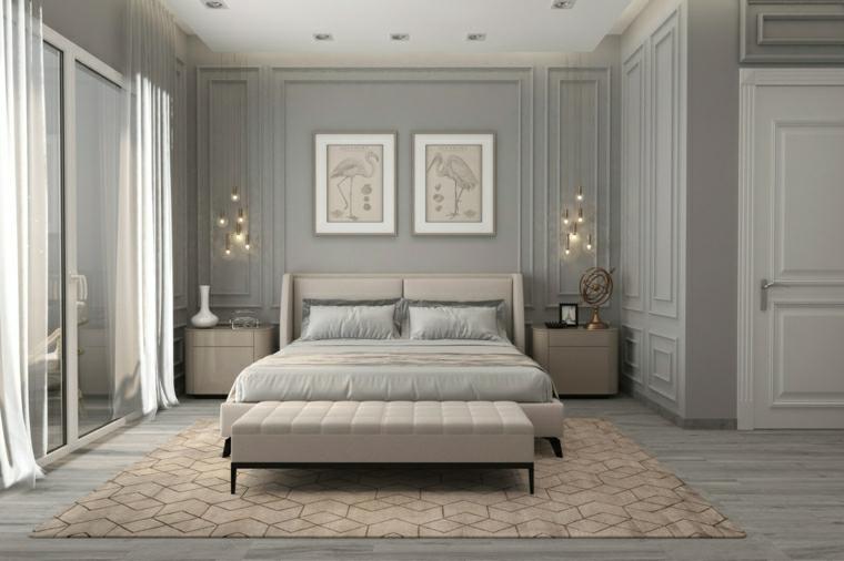 pittura camera da letto tortora pannelli in legno colore grigio